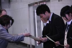 平成27年度学生表彰スポーツ賞・功労賞の表彰を行いました(射水キャンパス)