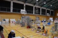 歴代ロボコン参加ロボットの展示