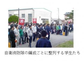 射水キャンパス学生寮(和海寮)にて防火訓練を行いました。