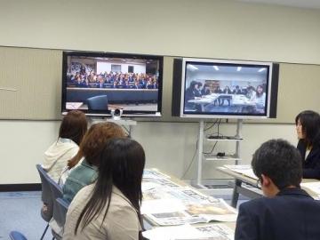 英国バリークレア中高等学校と東北関東大震災についての情報交換を行いました