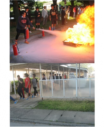 本郷キャンパス学生寮(仰岳寮)で防災訓練を行いました
