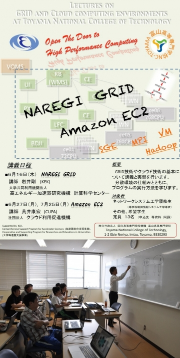 KEKキャラバンによるグリッドコンピューティング講座を開催しました。