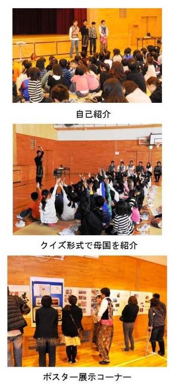 留学生が小学生・保護者を対象にアジアの国々の紹介を行いました