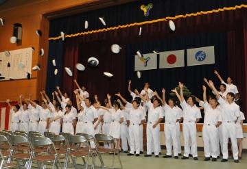 商船学科卒業証書並びに専攻科海事システム工学専攻修了証書授与式が行われました