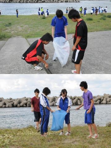 海浜清掃を実施しました