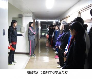 射水キャンパス学生寮(和海寮)にて防災訓練を行いました。