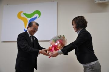 米田政明校長の離任式を実施