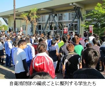 射水キャンパス学生寮(和海寮)で防火訓練を行いました