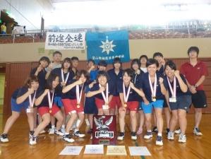 第48回全国高等専門学校体育大会バドミントン競技 女子団体優勝