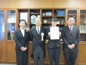 本校専攻科生が国立高等専門学校機構学生表彰を受賞