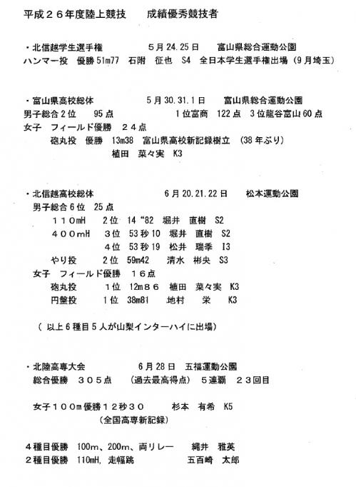 陸上部が校長へ競技成績を報告1