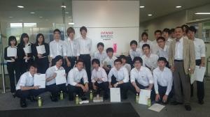 専攻科生が株式会社デンソーの工場を見学しました。