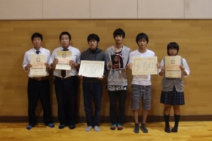 第50回全国高等専門学校体育大会および第22回全国高等専門学校将棋大会の受賞者