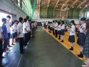 全国高専体育大会壮行会を開催しました。(射水キャンパス)