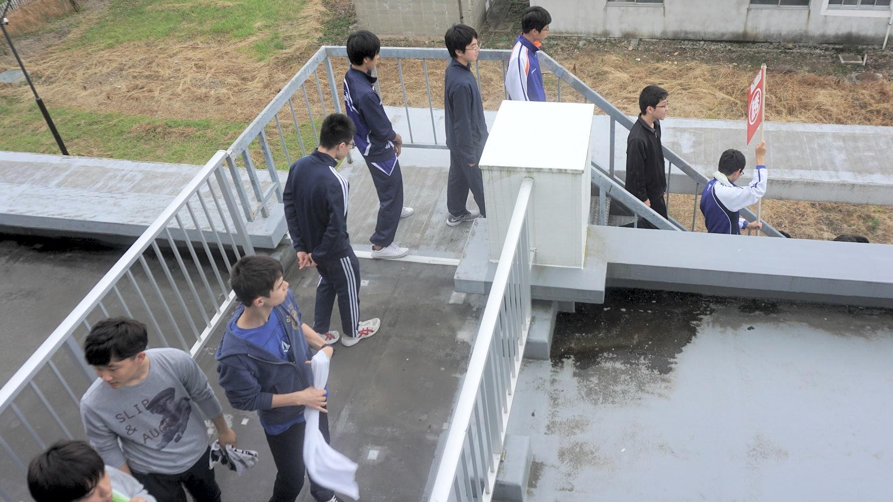 和海寮防災訓練を実施しました。(射水キャンパス)1