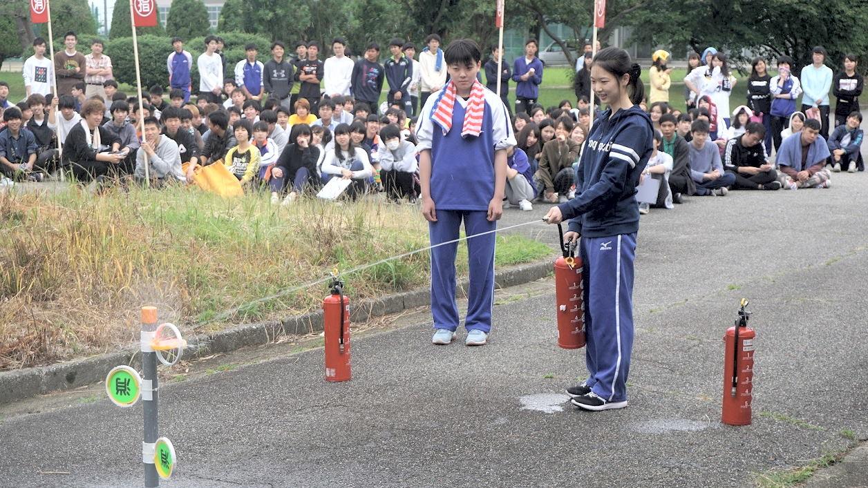 和海寮防災訓練を実施しました。(射水キャンパス)3