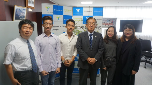 シンガポールテマセクポリテクニック短期留学生が研究プログラムを修了しました。