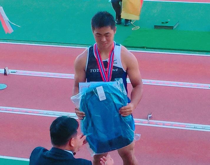 第12回U18日本陸上競技選手権大会にて本校学生が準優勝を収めました。