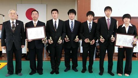 富山県柔道連盟より表彰されました。(本郷キャンパス)
