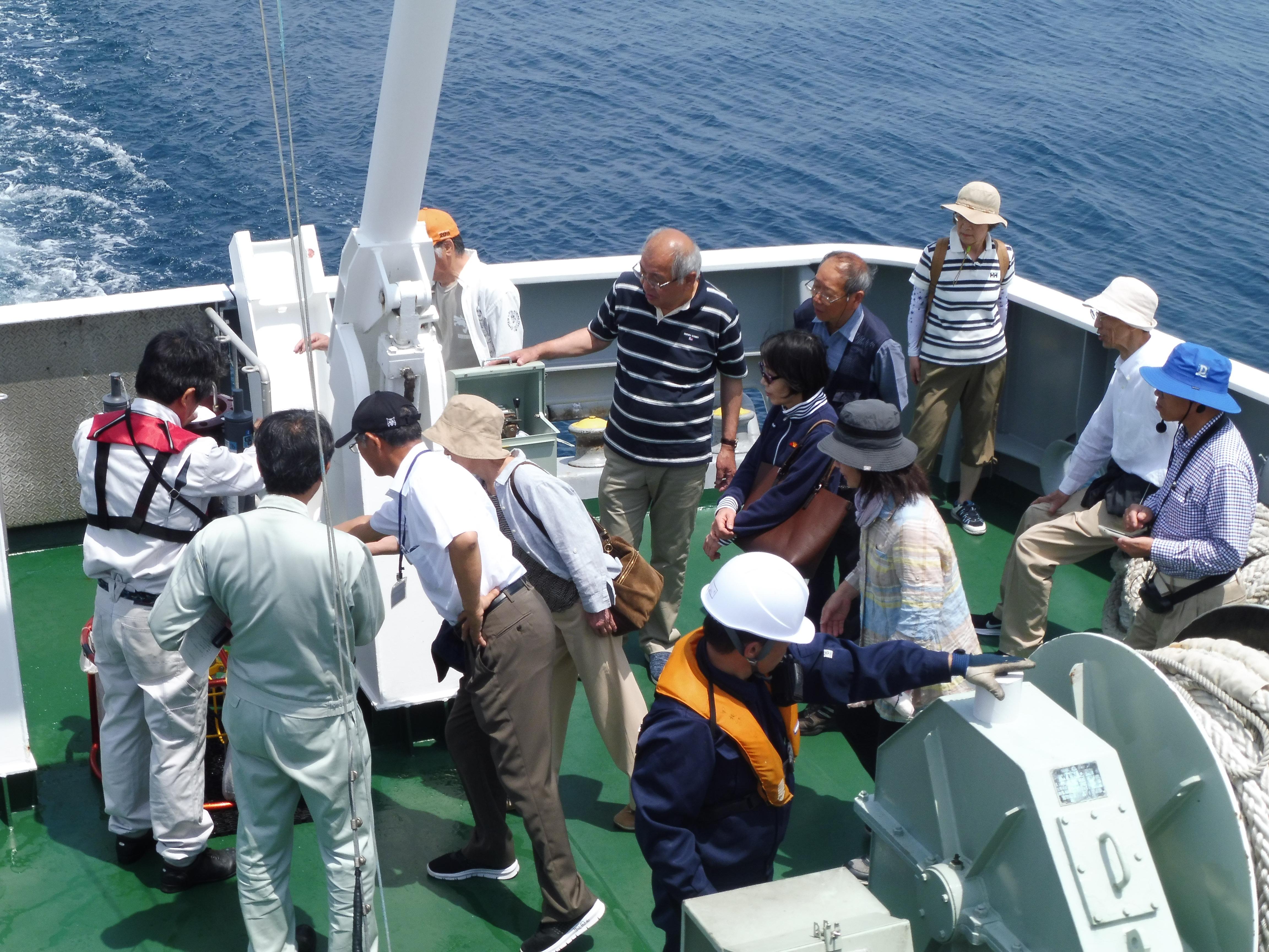 小矢部市公民館職員のみなさまに洋上研修を実施しました。