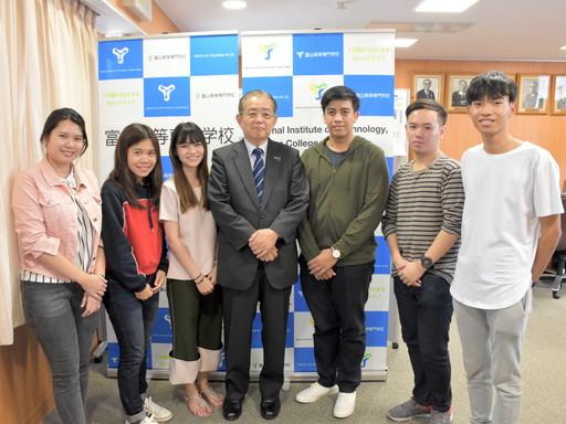 タイ・キングモンクット工科大学からの短期留学生を受け入れました。