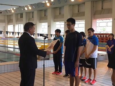 第34回富山県高等学校新人水泳競技大会で男子が総合3位となりました。