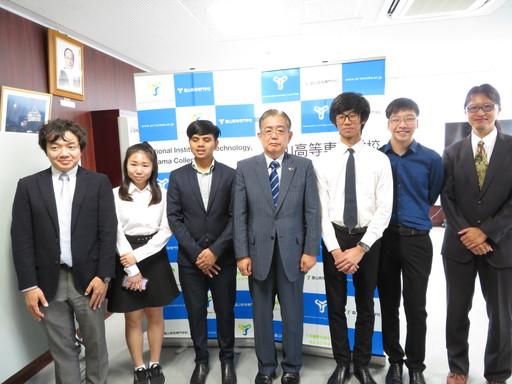 シンガポール・テマセクポリテクニックからの短期留学生を受け入れました。