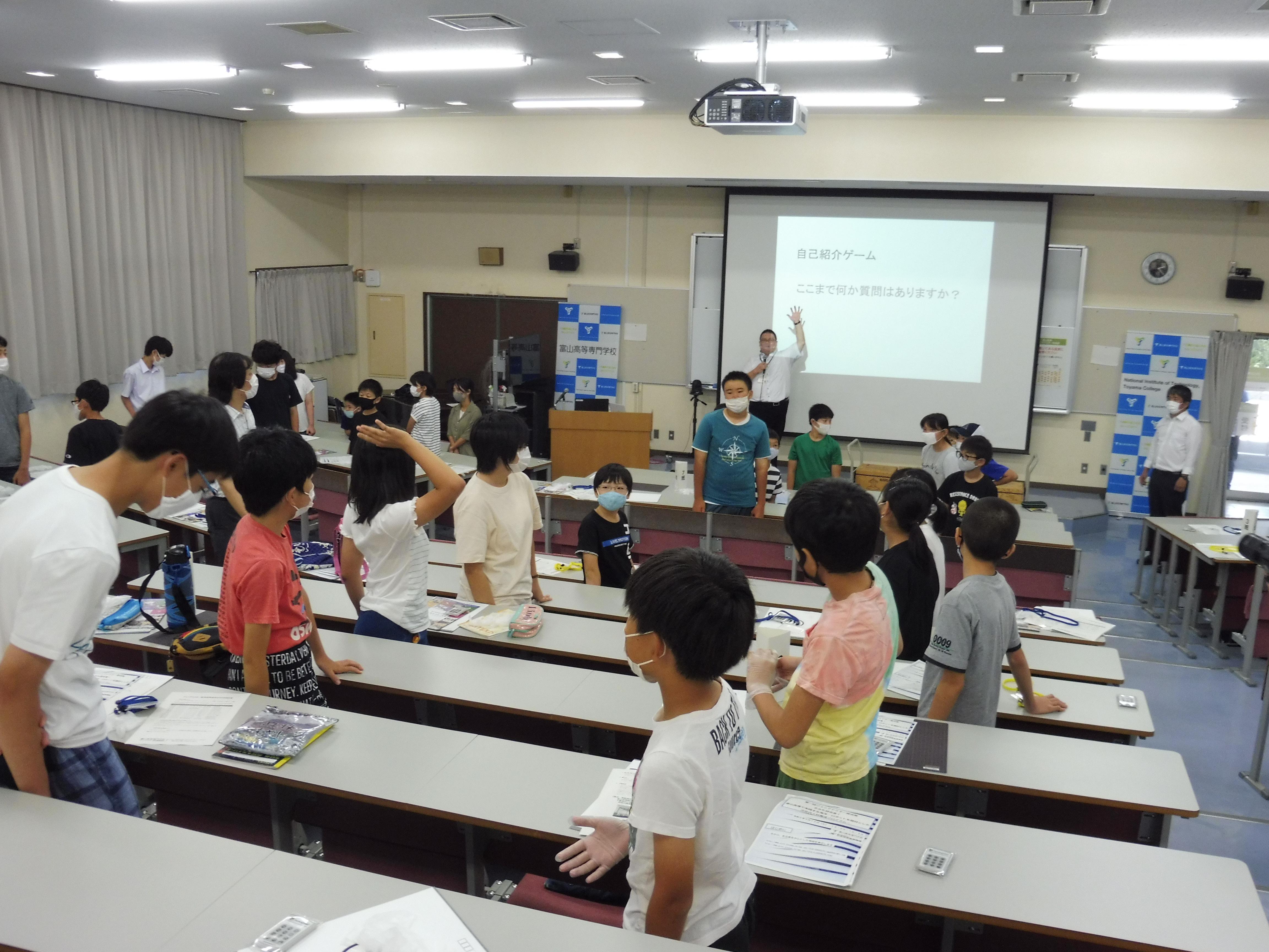 富山高専ジュニアドクター育成塾『開講式』を実施しました。