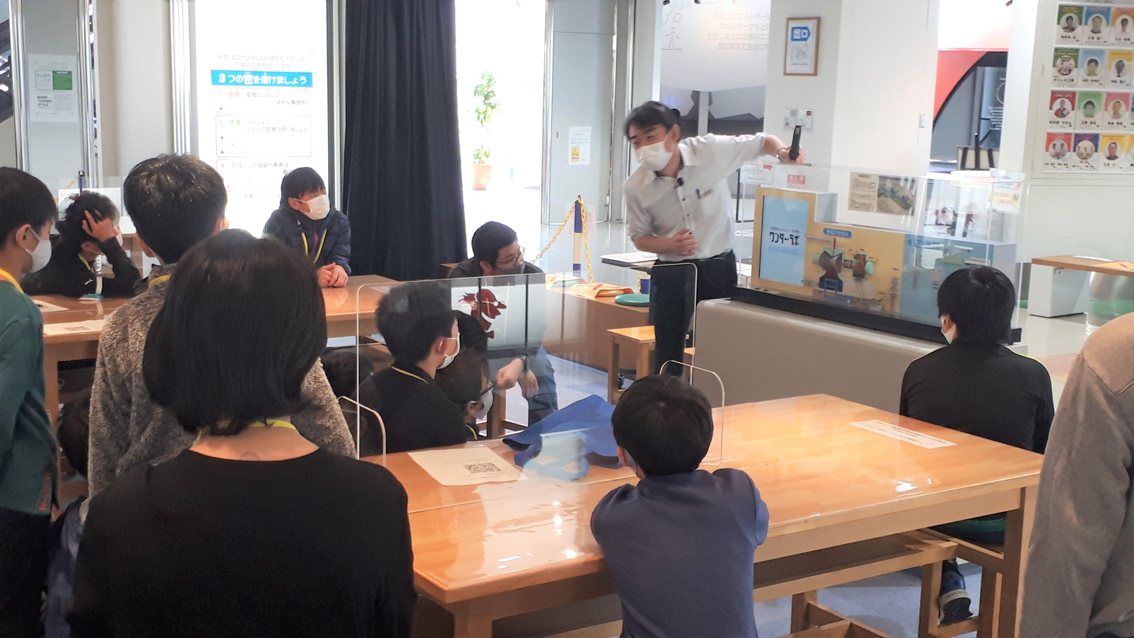 富山高専ジュニアドクター育成塾『北陸電力エネルギー科学館ワンダー・ラボ実習』(A:小学生チーム)を実施しました。