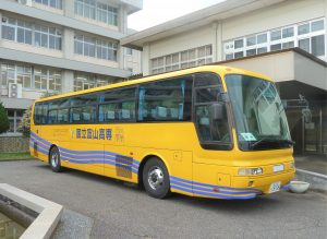 本校のバスを整備しました。
