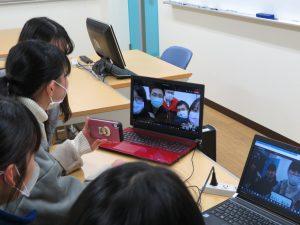 東呉大学(台湾)とオンライン交流会を行いました。