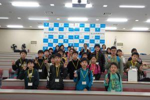 富山高専ジュニアドクター育成塾 第12回「先端研究所見学会」及び「修了式」を実施しました。